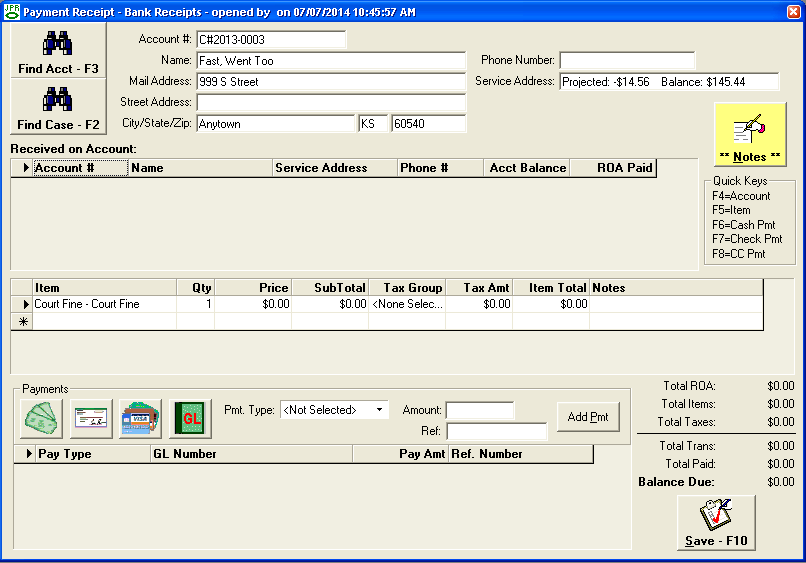 payment receipting, jayhawk software, billing software