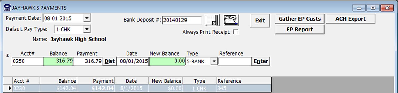 billing software, jayhawk software, advantage computer, utility billing
