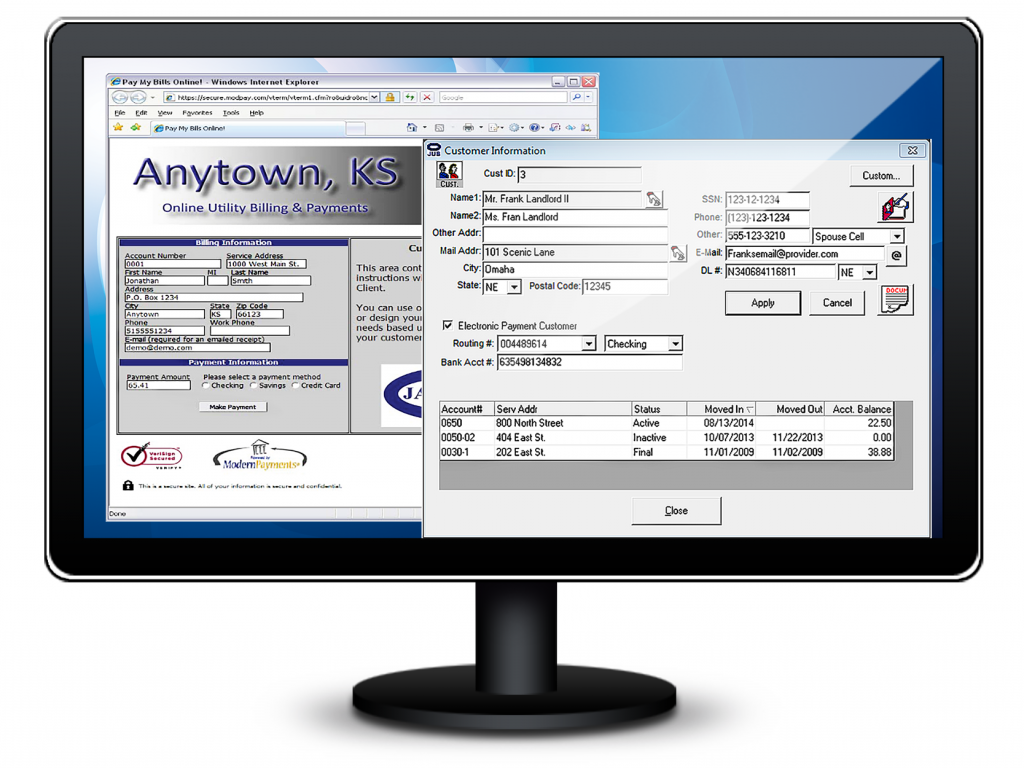 website billpay, billing software, court software, jayhawk software