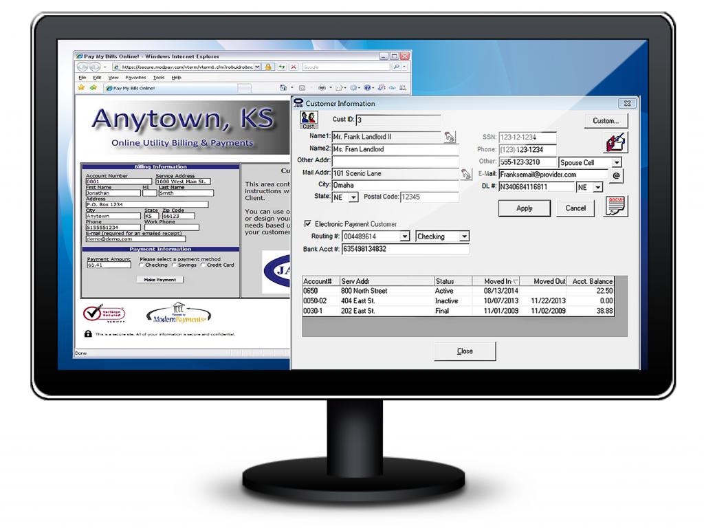 website billpay, billing software, court software, jayhawk software