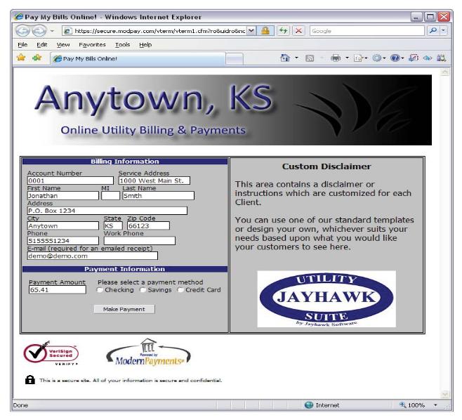 Website Billpay